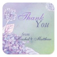 Graceful Hydrangeas Wedding Thank You Stickers
