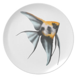 Graceful Koi Angelfish Plate