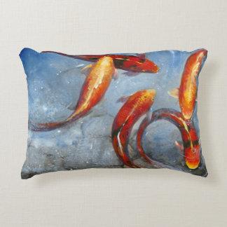 Graceful Koi I Decorative Pillow