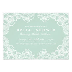 Graceful Lace Bridal Shower Invitation