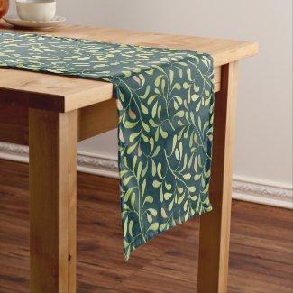 Graceful Leaves Custom Color Table Runner