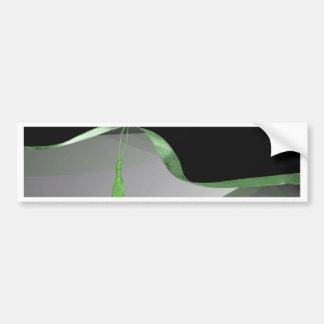 Graceful Lime Green Abstract,Tassel on Ribbon 2019 Bumper Sticker