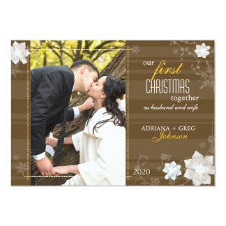 Graceful Our First Christmas Together Photo Card