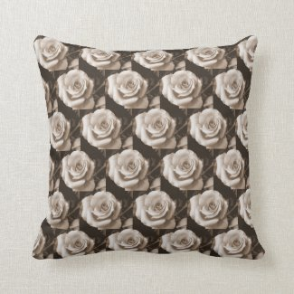 Graceful Rose Throw Pillow