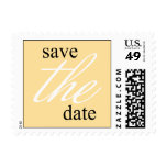 Graceful Save The Date Postage Stamp (Gold)