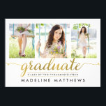 """Graceful Script Editable Color Graduation Invite<br><div class=""""desc"""">Modern and stylish graduation announcement/invitation from Berry Berry Sweet Designs. Visit our showroom at WWW.BERRYBERRYSWEET.COM for more stylish stationery designs.</div>"""