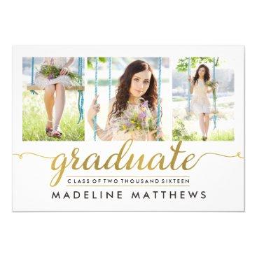 berryberrysweet Graceful Script Editable Color Graduation Invite