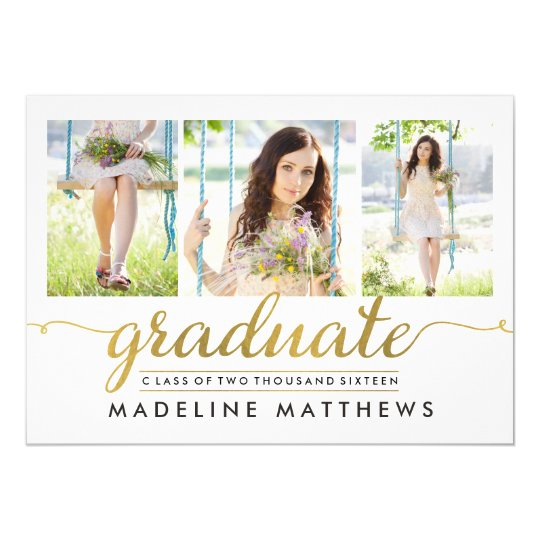 Graceful script editable color graduation invite zazzle graceful script editable color graduation invite filmwisefo Images