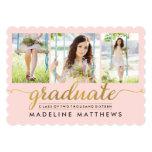 Graceful Script Editable Color Graduation Invite at Zazzle