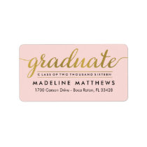 Graceful Script EDITABLE COLOR Graduation Label