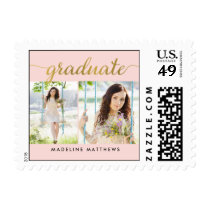 Graceful Script EDITABLE COLOR Graduation Stamp