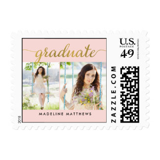Graceful Script EDITABLE COLOR Graduation Stamp