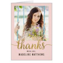 Graceful Script EDITABLE COLOR Thank You Card