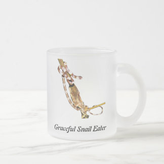 Graceful Snail Eater 10 Oz Frosted Glass Coffee Mug