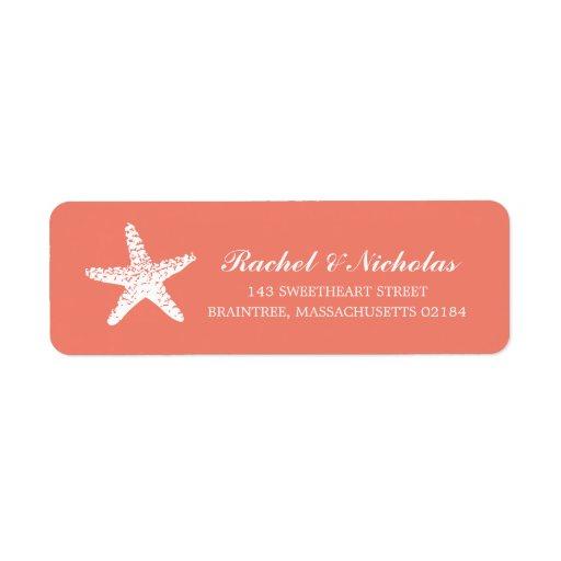 Graceful Starfish | Return Address Custom Return Address Labels