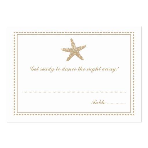 Graceful Starfish   Seating Escort Card Business Card