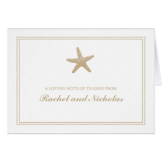 Graceful Starfish   Thank You Stationery Note Card