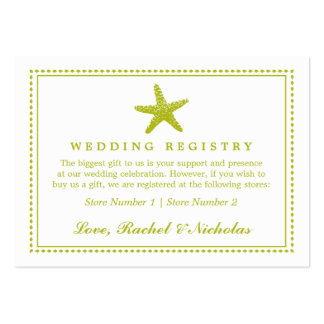 Graceful Starfish | Wedding Gift Registry Business Cards