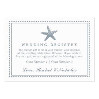 Graceful Starfish | Wedding Gift Registry Business Card Templates