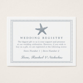 Graceful Starfish | Wedding Gift Registry Business Card