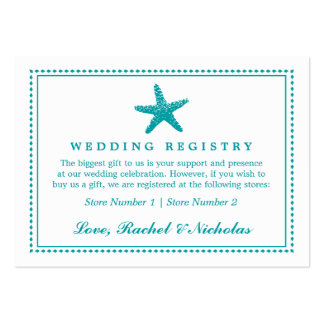 Graceful Starfish | Wedding Gift Registry Large Business Card
