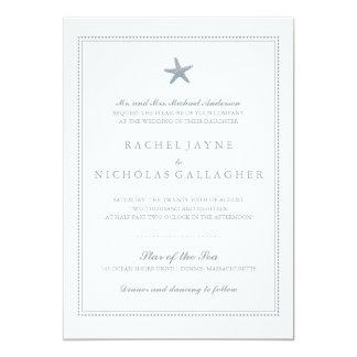 Graceful Starfish | Wedding 5x7 Paper Invitation Card