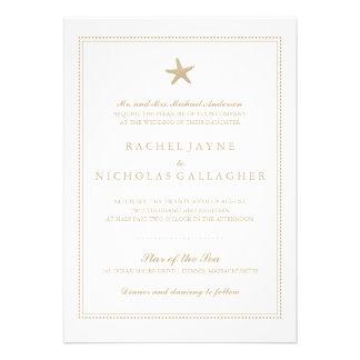 Graceful Starfish Wedding Custom Invitation