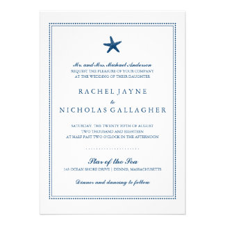 Graceful Starfish Wedding Personalized Announcements