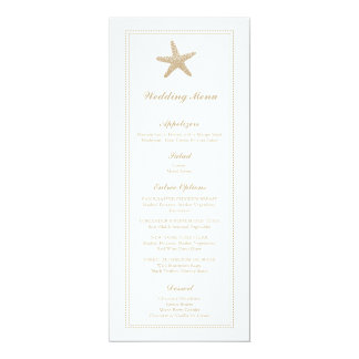 Graceful Starfish   Wedding Menu Card