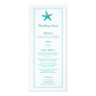 Graceful Starfish | Wedding Menu 4x9.25 Paper Invitation Card