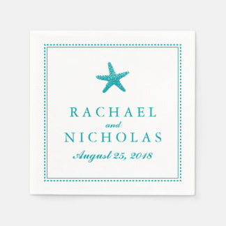 Graceful Starfish | Wedding Napkin