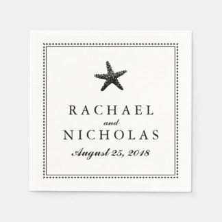 Graceful Starfish   Wedding Paper Napkin