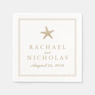 Graceful Starfish | Wedding Paper Napkin