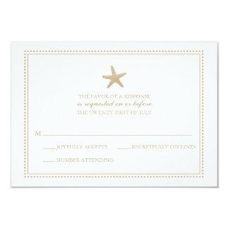 Graceful Starfish | Wedding RSVP 3.5x5 Paper Invitation Card