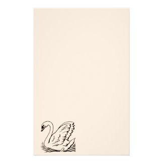 Graceful Swan Stationery Paper