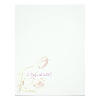 Graceful Tulips Personal Stationery Personalized Invitations
