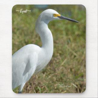 Graceful white Egret Bird Mousepad