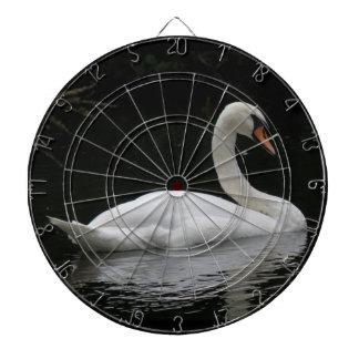 Graceful White Swan Dart Board