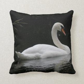 Graceful White Swan Pillow