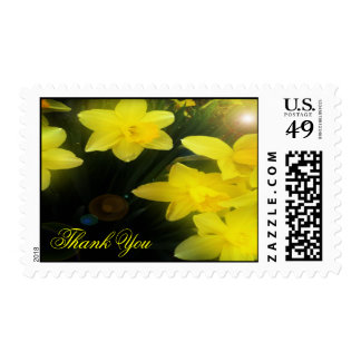 Graceful Yellow  Flower Thank You Postage Stamp