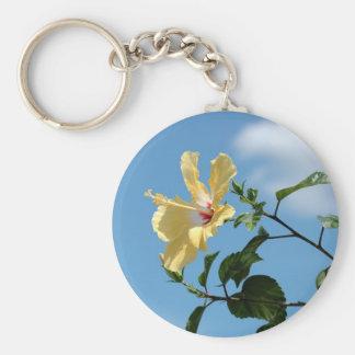 Graceful yellow hibiscus flower Keychain
