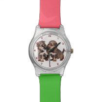 Graceful Yorkshire Puppies Wrist Watch