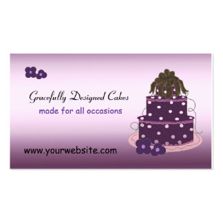 Gracefully Designed Cakes Business Card Templates