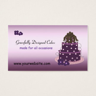 Gracefully Designed Cakes Business Card