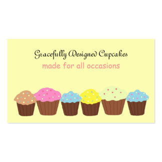 Gracefully Designed Cupcakes Business Card