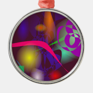 Gracefully Entangled Round Metal Christmas Ornament
