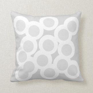 Gracefully Grey Pillow/Cushion Vers 2 Circles Throw Pillow