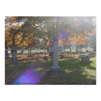 Graceland Cemetary Poster