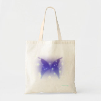Grace's Butterfly - Blue Silhouette with Pixies Tote Bag