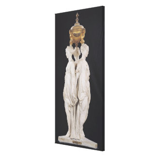 Graces, funerary monument with heart of Henri Canvas Print